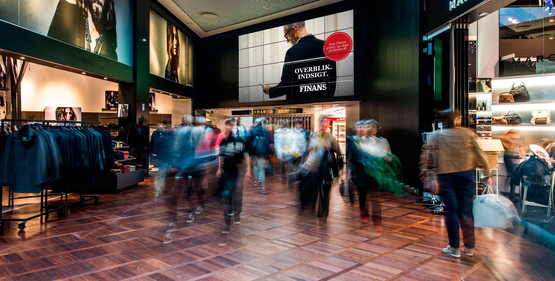 digital signage Fineman eksempel